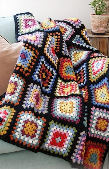 crochet blanket with granny square free patterns