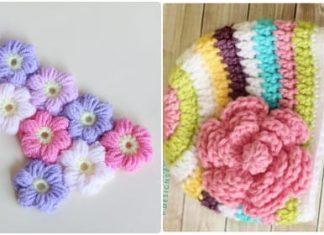 crochet flower pattern free
