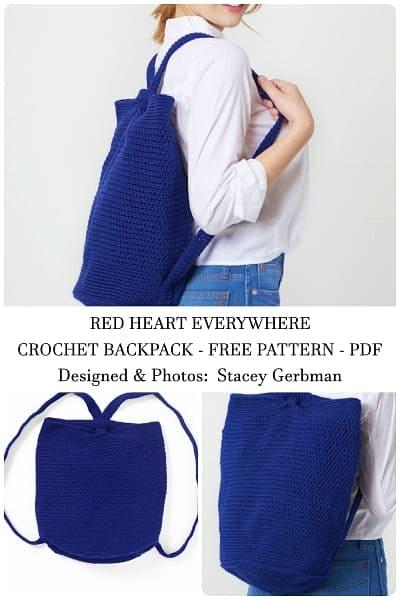 crochet backpack free pattern for girls