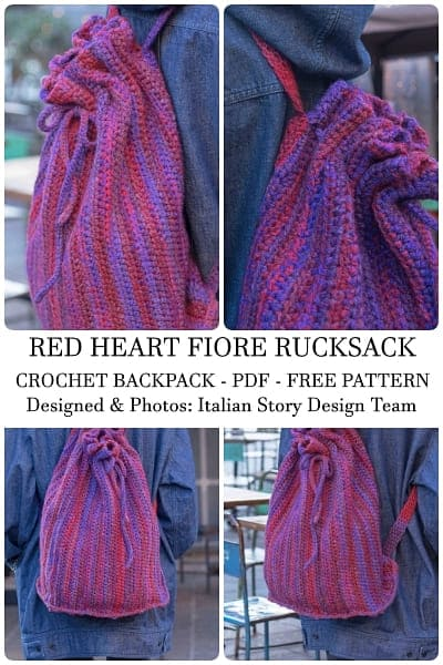 drawstring crochet backpack free pattern pdf