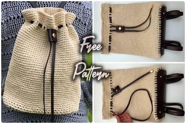 easy crochet backpack free pattern