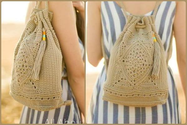 crochet backpack free pattern for girl