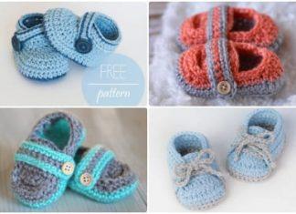 crochet baby boy shoes free pattern