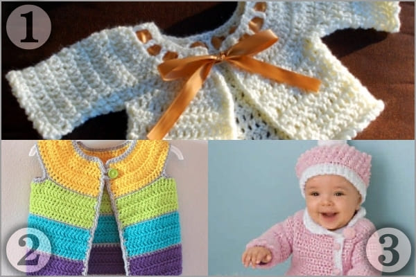crochet clothes free patterns for baby girl