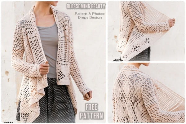 blossoming beauty crochet cardigan pattern free