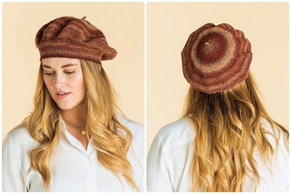crochet classic beret hat free pattern