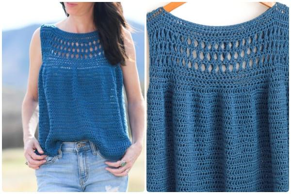 Summer easy crochet sweater pattern