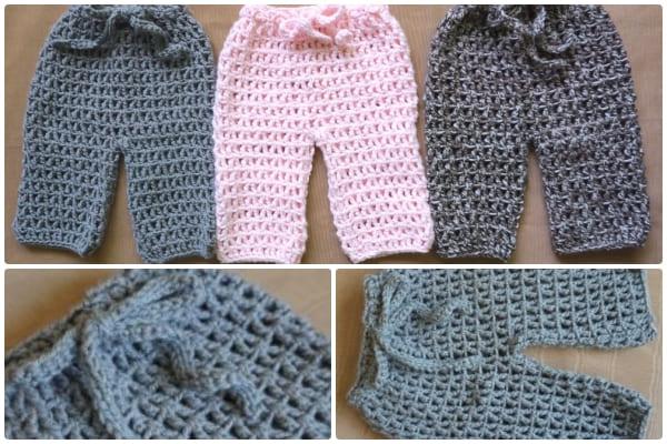 treble crochet newborn pants free patterns