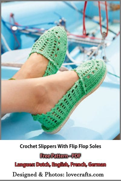 lovecrafts crochet slippers flip flop soles free pattern pdf format