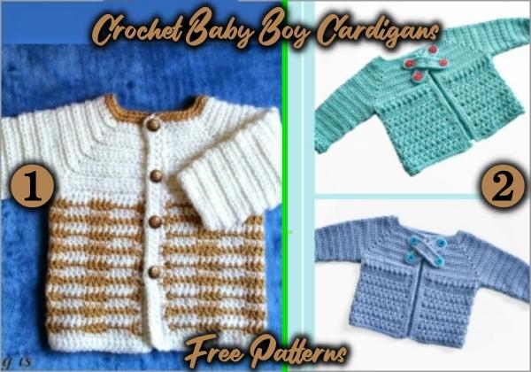 crochet cardigan free patterns for baby boy