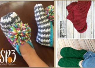 crochet slippers for bos and girls free pattern