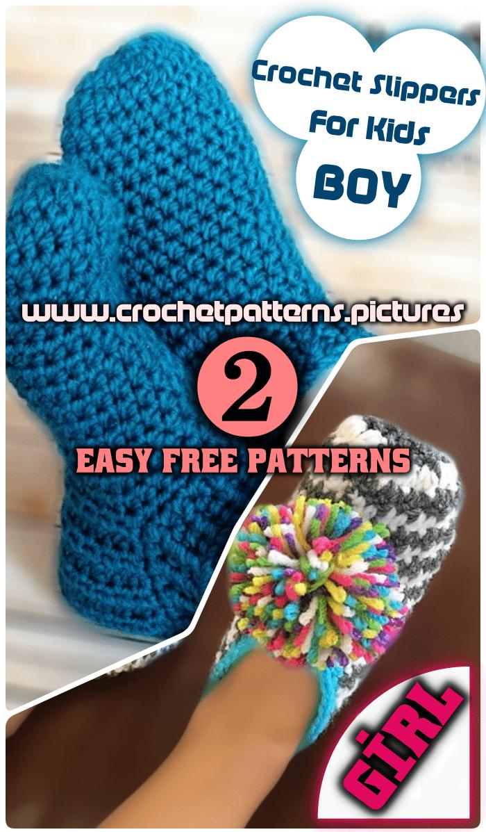 crochet slippers for boys and girls