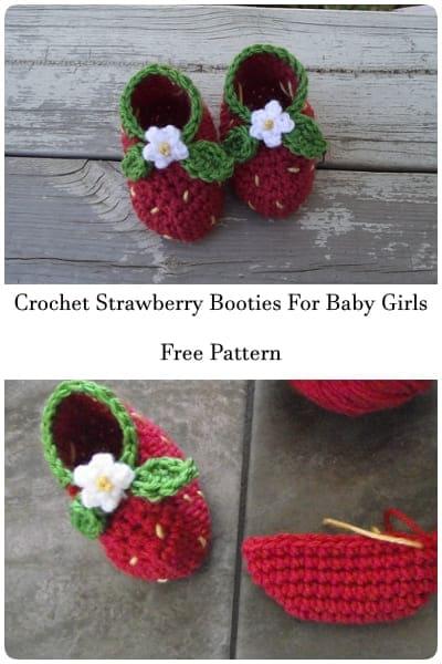 crochet strawberry boot free pattern