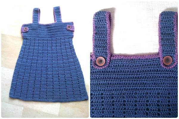 crochet dress for kids girls free pattern