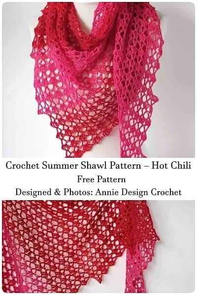 summer crochet shawl pattern free