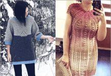 crochet sweater dress patterns