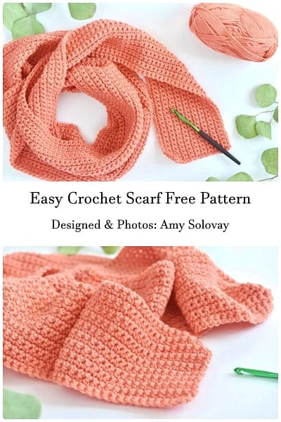 easy crochet scarf pattern free