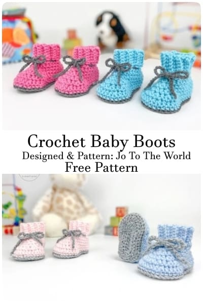 jo to the world crochet baby boot free patterns