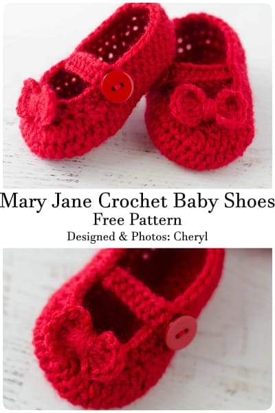 mary jane crochet shoes for baby girls