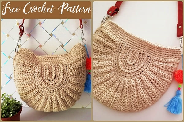 seashell crochet bag free pattern