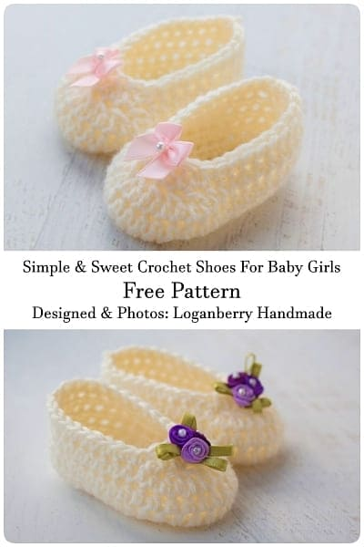easy crochet shoes for baby girls