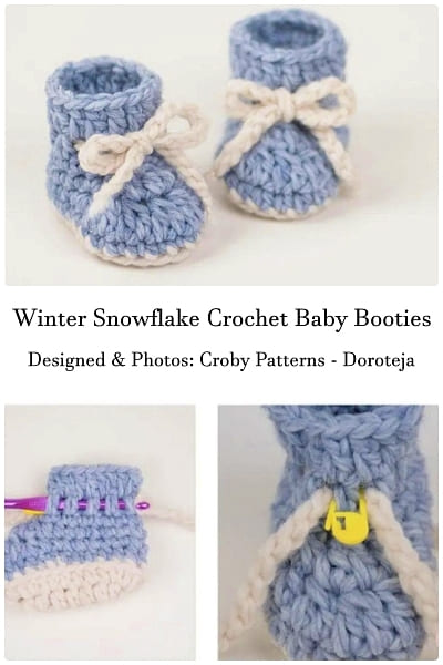winter snowflake crochet baby boy booty free pattern