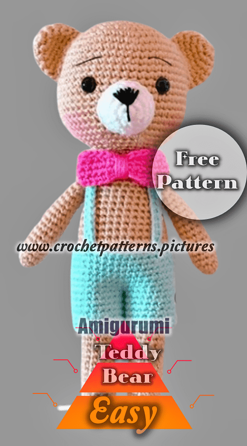 Amigurumi Crochet Sam, the Little Teddy Bear Free Pattern ... | 900x500