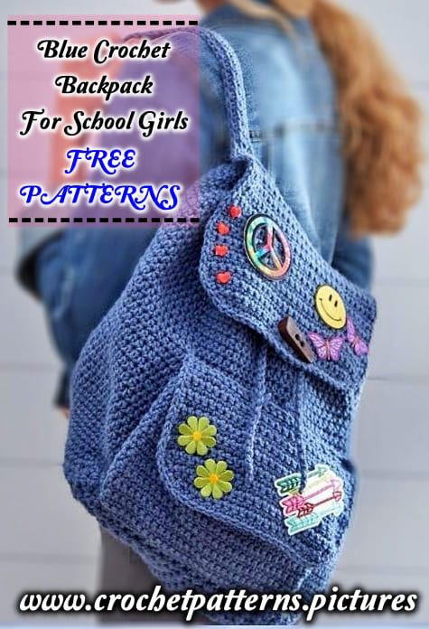 blue crochet backpack pattern free