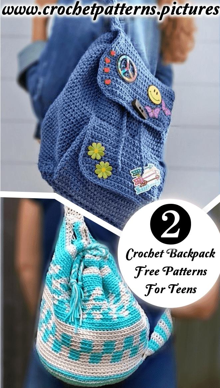 crochet backpack pattern free