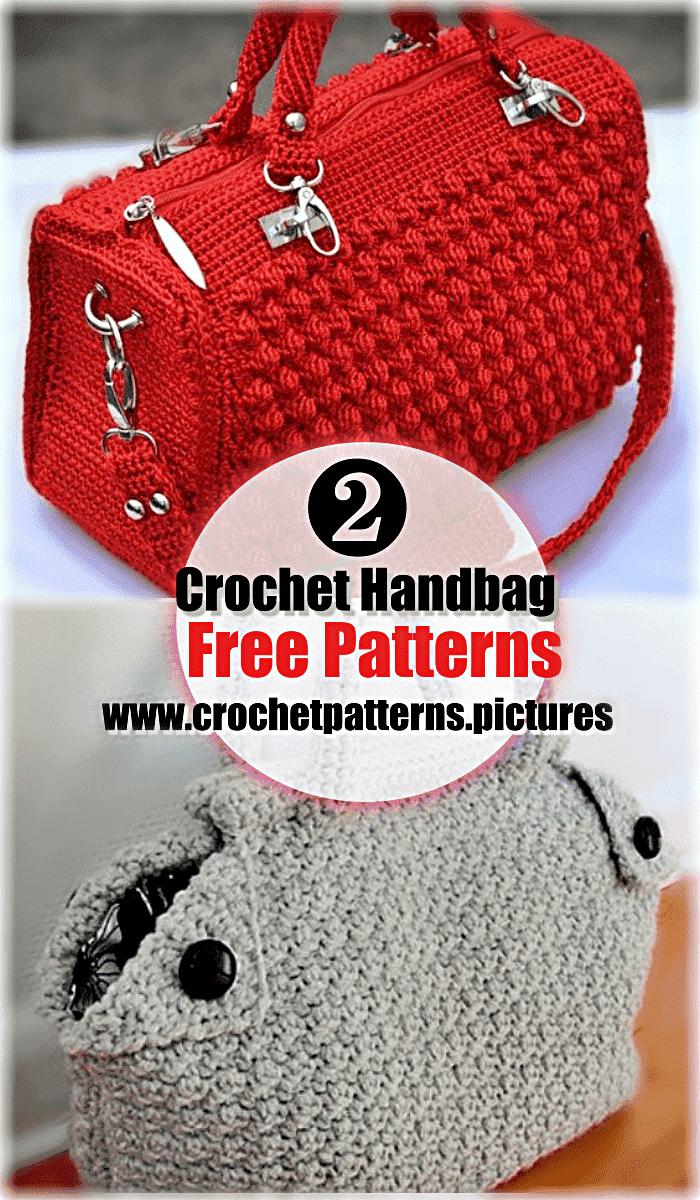 modern crochet handbag free pattern