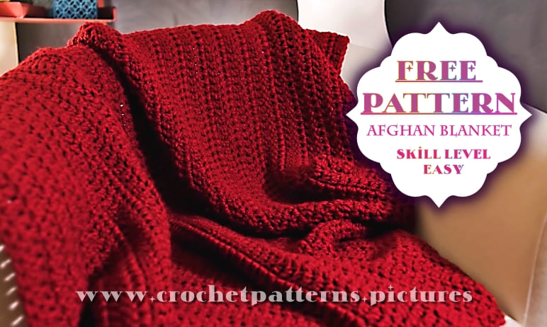 red crochet afghan blanket free pattern