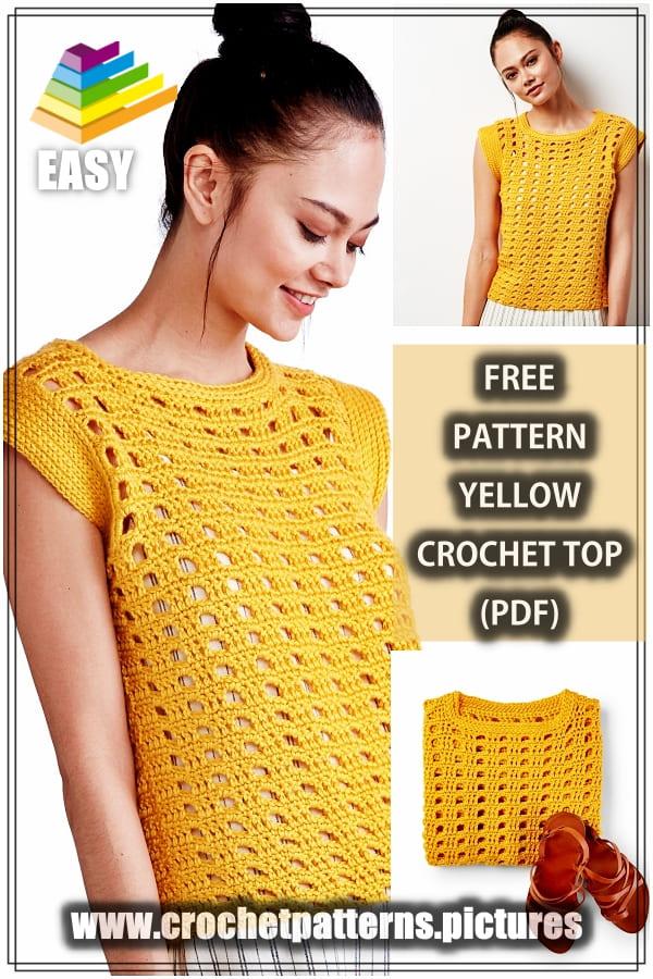 yellow crochet top free pattern