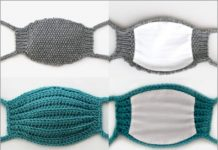 2021 crochet gray and green masks free patterns