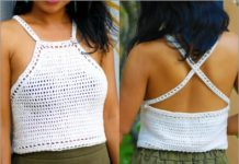 white halter crochet top free pattern for summer 2021