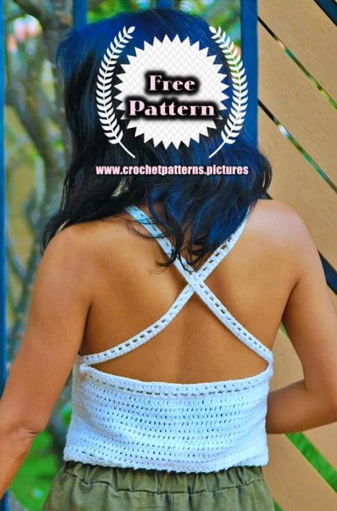 crochet easy halter top beginner free pattern