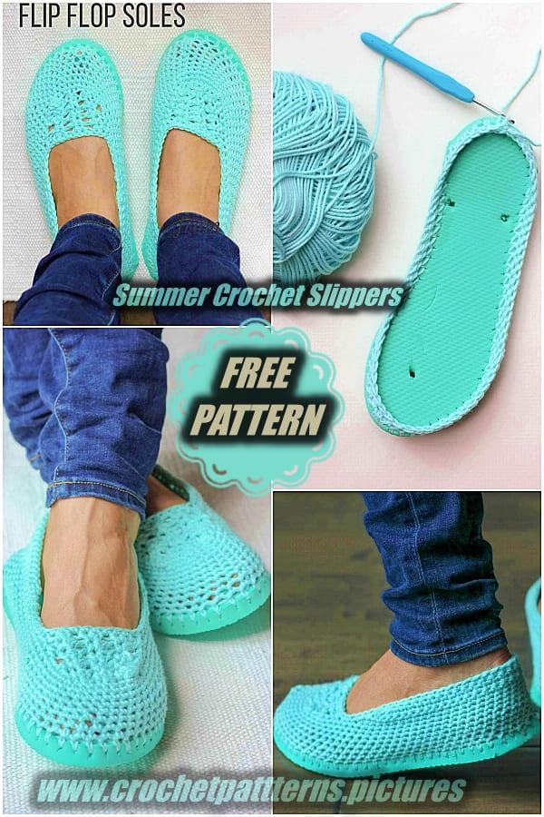 crochet slippers flip flops