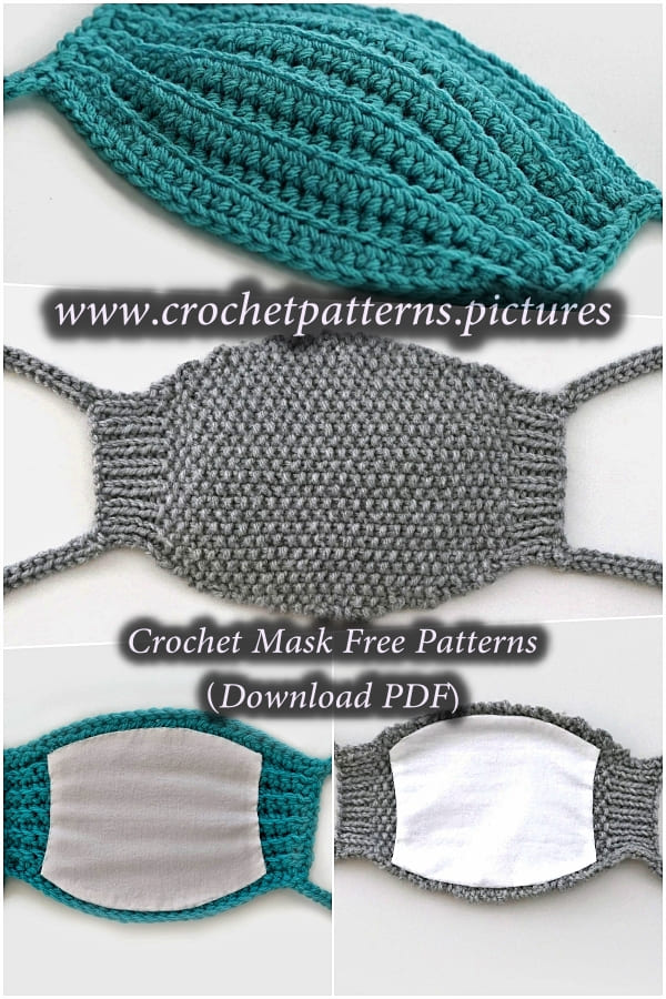 crochet green and gray masks free patterns for 2021