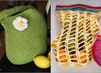 2 crochet market bag easy free patterns