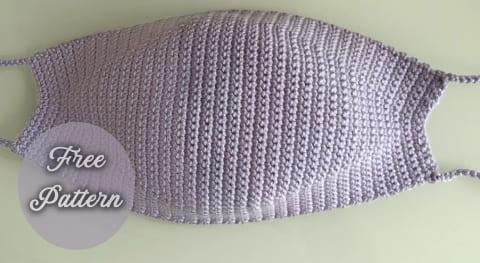 easy crochet face mask free pattern for beginners video tutorial