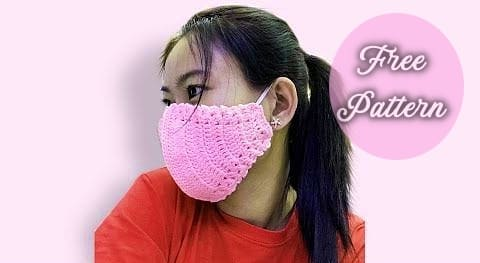 crochet face mask free pattern and for beginners video tutorial