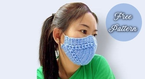 easy crochet face mask free patterns and for beginners video tutorial