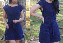 Audrey crochet summer dress free pattern