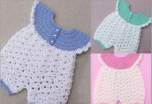 baby crochet romper free patterns