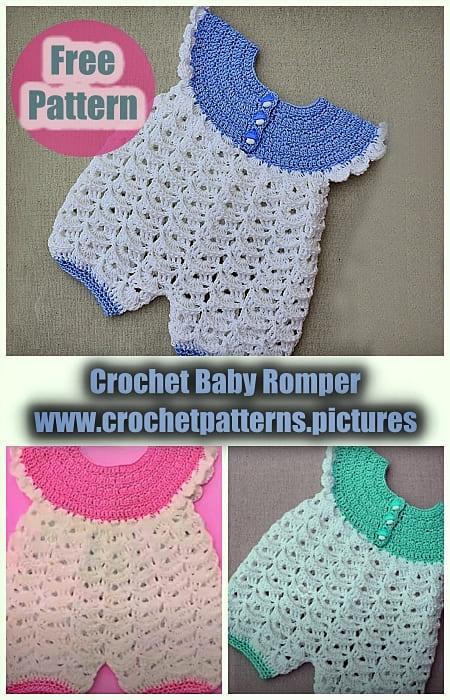 3 crochet baby romper very easy free patterns