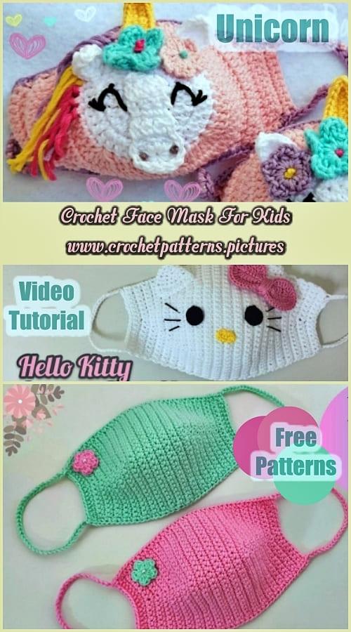 crochet face mask free pattern for kids 2021
