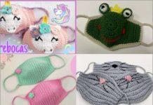 crochet face mask free pattern for kids part 1