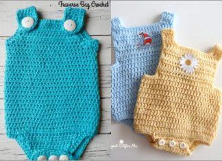2021 summer crochet romper free pattern
