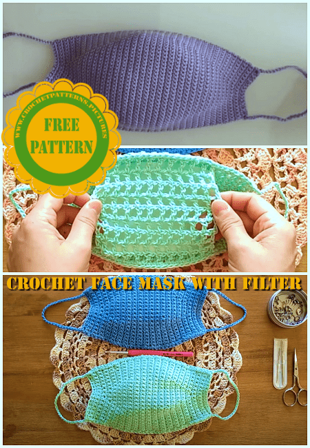 crochet face mask free pattern for filtered