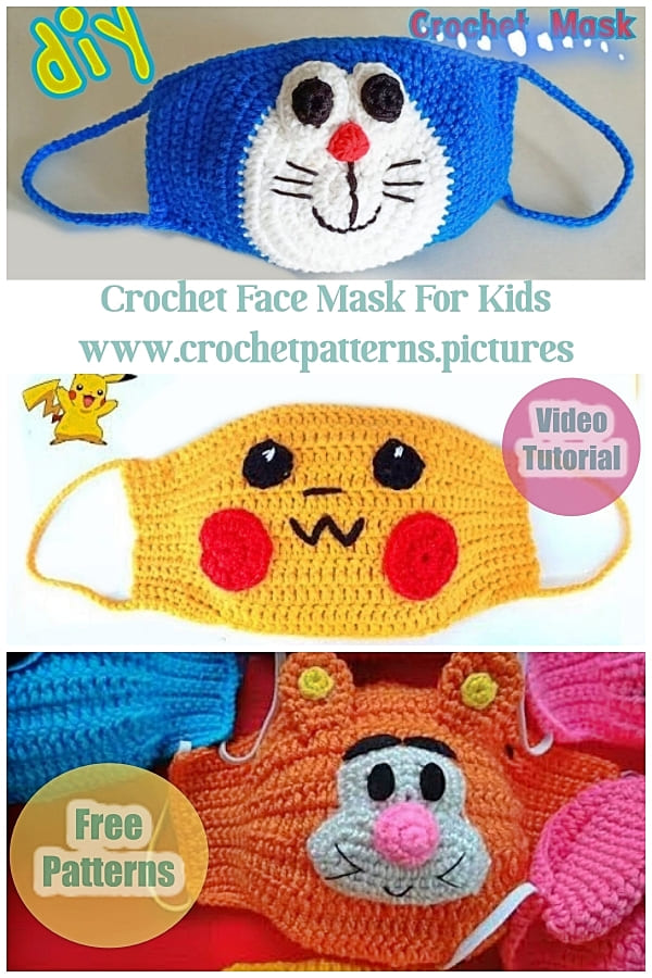 crochet face mask for kids part 2