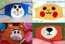 crochet face mask free pattern for kids 2